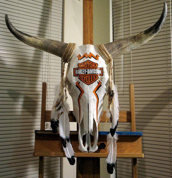 Harley Davidson Cow Skull by SenseiMonkeyboy.deviantart.com