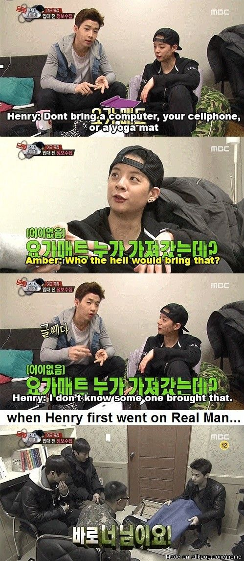 Henry teaching Amber not to be like him XD
