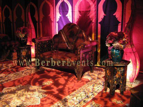 Moroccan Henna Tent Fully Decorated, At The Mandarin Hotel, Brickell Key,  Miami