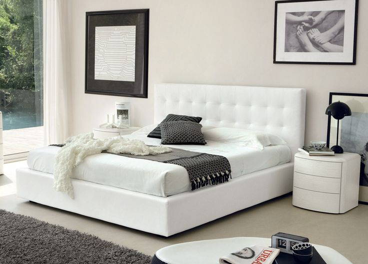 wonderful white king size bed with white nightstands