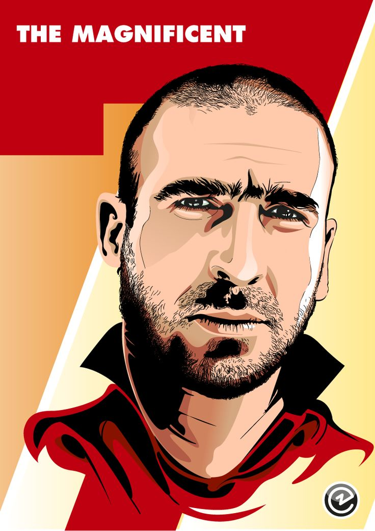 Eric Cantona, best football mind ever! Illustration by Christian Zivojinovic