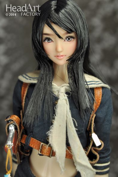 """Head Art Factory"" 1/6 Hand Paint Custom Head ""AW409"" for Obitsu/OOAK"
