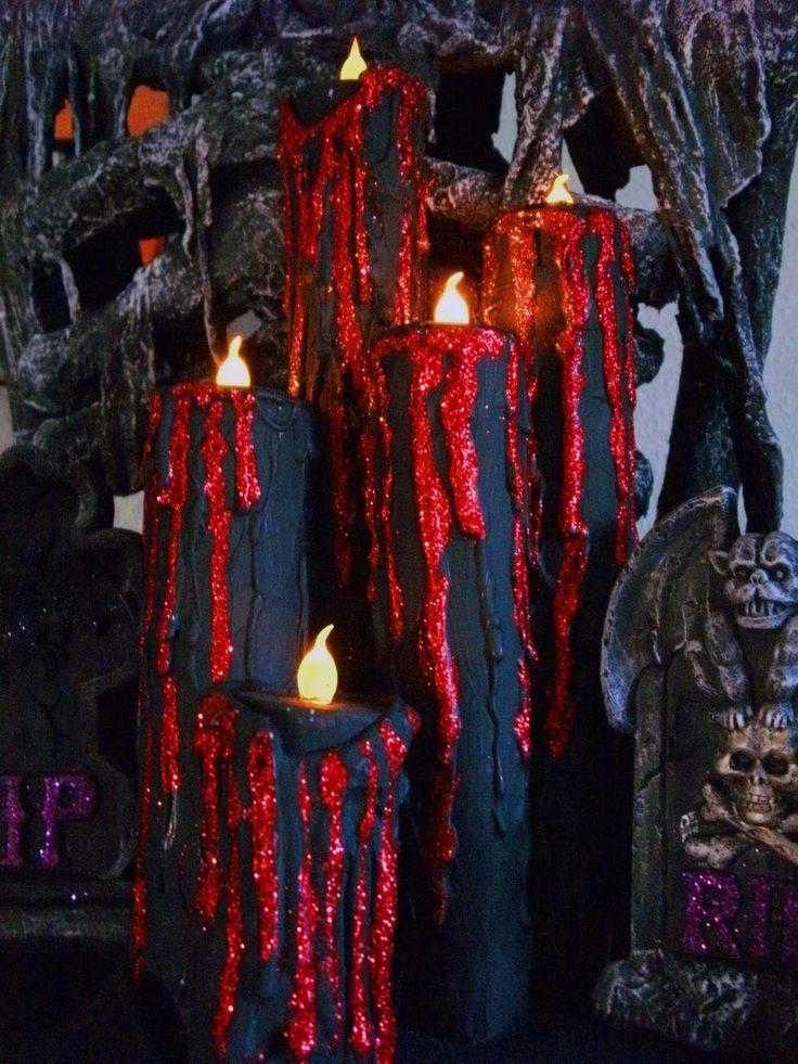 House of Dewberry: DIY Halloween Creepy Candles