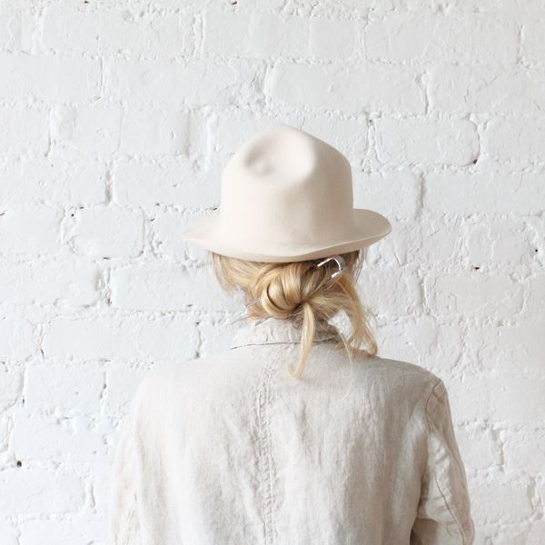 Brookes Boswell Yama Imo Hat Alabaster