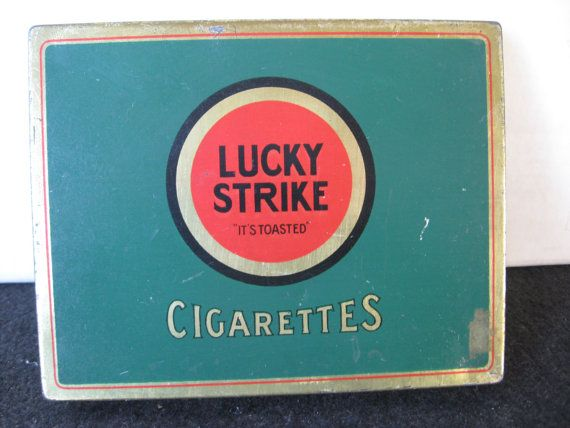 Vintage Lucky Strike Flat Fifties Cigarette Tin by BandSBargains