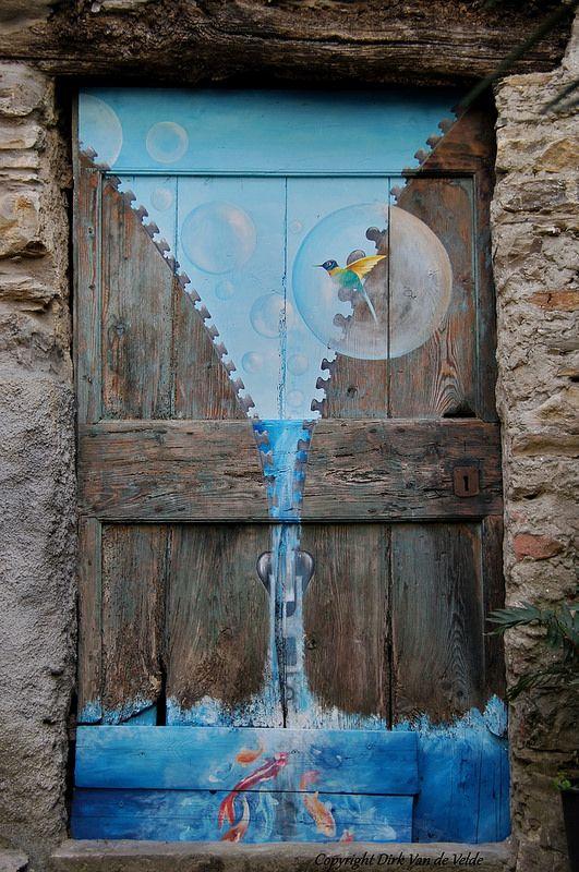 Door in Valloria, Italy
