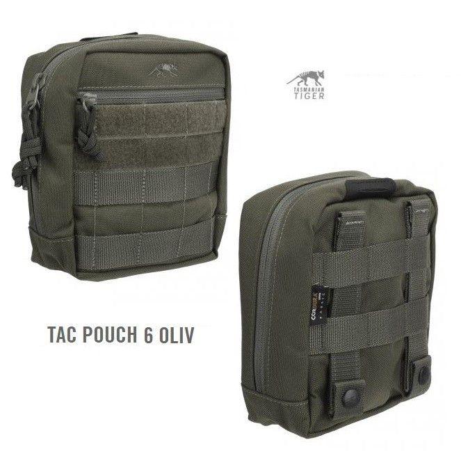 Tasmanian Tiger Tac Pouch 6 verde oliva - Utility - Giberne - Equipment