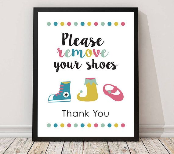 Please remove your shoes sign PRINTABLE arttake by MyDreamWall