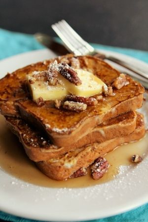 Pumpkin French Toast. #TheTexasFoodNetwork finding interesting recipes to share with everyone. Come share your recipes with us too on Facebook at The Texas Food Network
