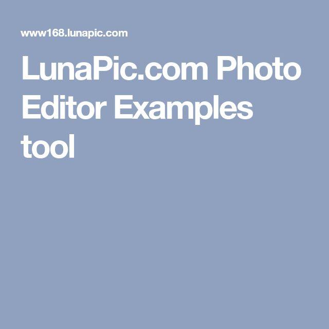 LunaPic.com Photo Editor  Examples tool