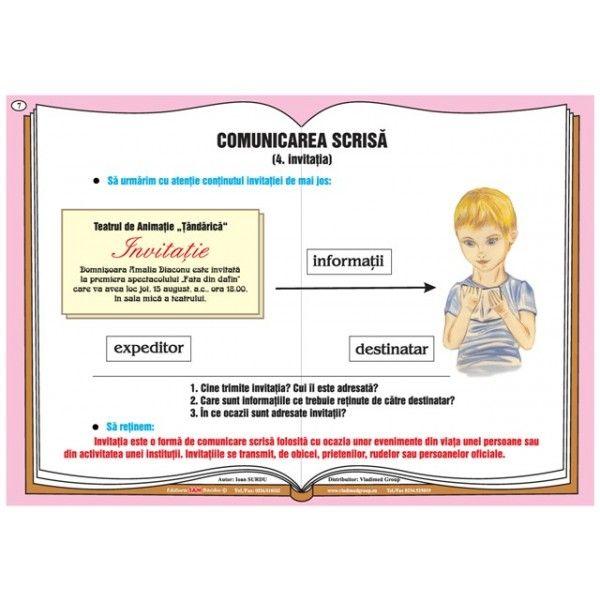 Plansa Comunicarea verbala - comunicarea scrisa - invitatia