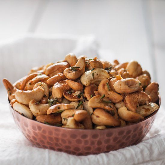 Ina's rosemary cashews are an addictive, impressive, and easy party snack.