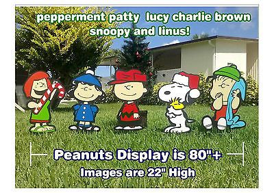 Charlie #brown #peanuts gang #christmas yard lawn art decorations,  View more on the LINK: http://www.zeppy.io/product/gb/2/181930116067/