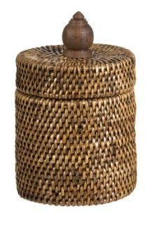 Vintage Rattan Container with lid - Lifestyle Home and Living