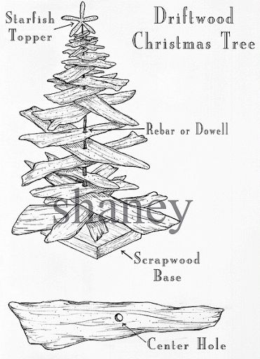How to make a driftwood Christmas tree.