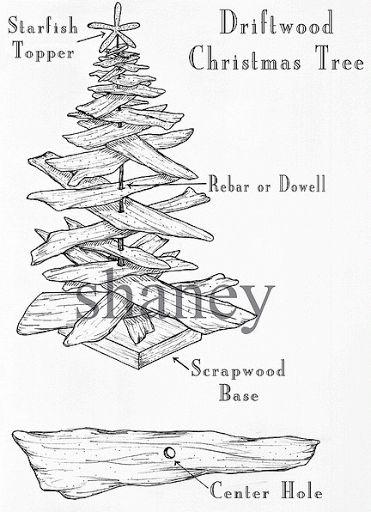 How to make a driftwood Christmas tree.
