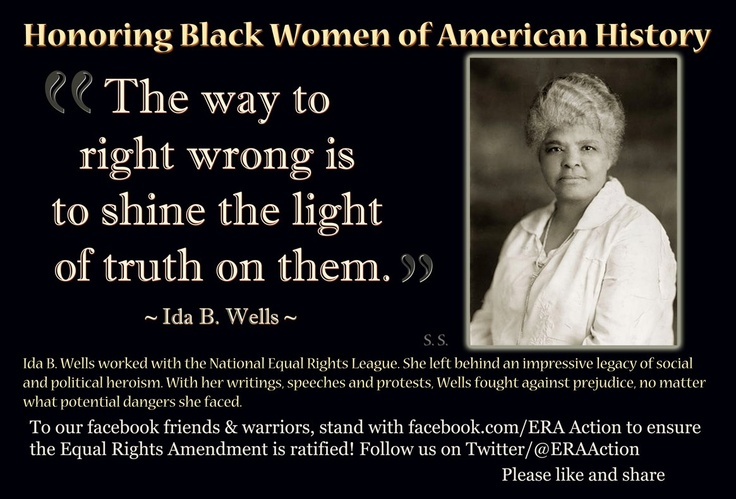 the life of ida b wells Born to slaves in 1862, ida b wells became a fearless antilynching crusader, women's rights advocate, and journalist the life of ida b wells mia bay.
