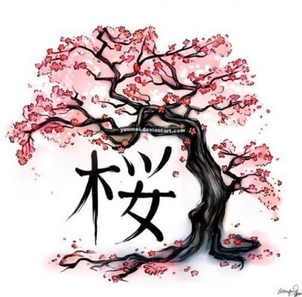 Drawing Cherry Blossom Tree Template Google Search Anesetattoosymbols Anese Tattoo Symbols Blossoms
