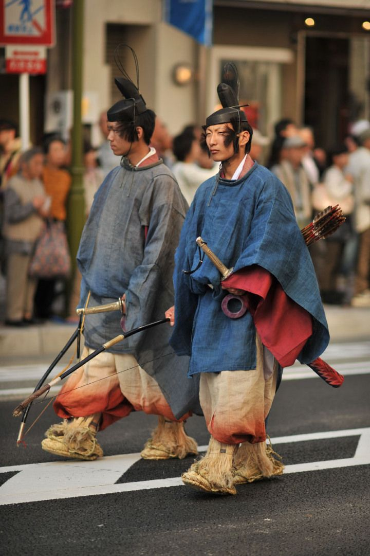 Jidai Matsuri, Kyoto. The festival began after the Emperor moved the capital away from Kyoto to Tokyo in 1868. Historical reenactment parade, in authentic costumes from Japanese feudal history to the Meiji era.