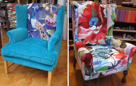 Stunning 'watercoloured' fabrics - Living Room, Wellington