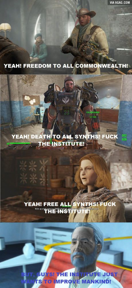[SPOILERS] My feelings throughout Fallout 4.