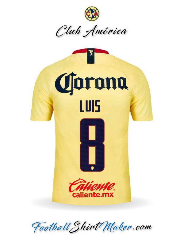 571e18f4fdc Camiseta Club America 2018/19 Luis 8 | futbol | Club america ...