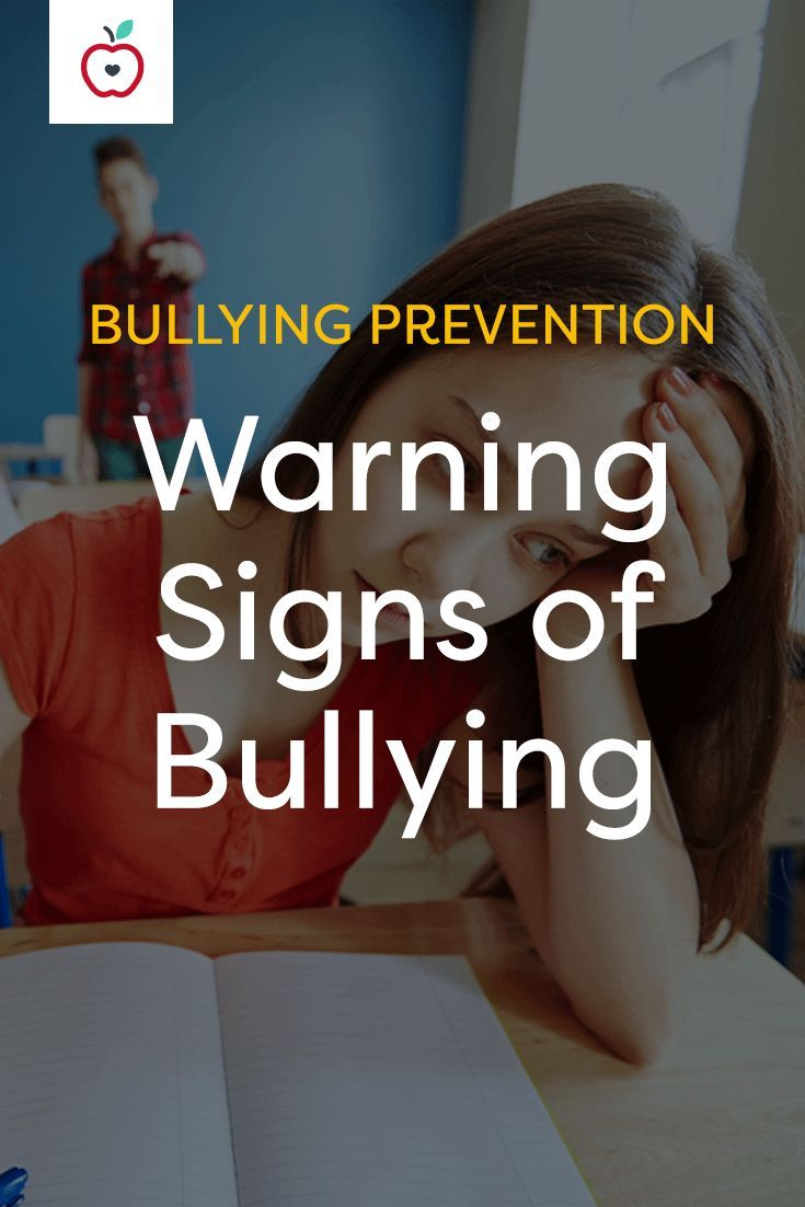 This teacher and parent resource includes 14 specific warning signs that indicate that a child is being bullied or at risk for bullying