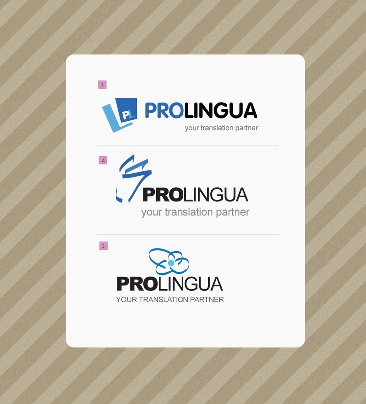 Prolingua - logo proposals.