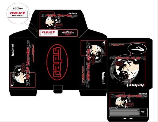 Designer : Alvin Gilbert Dc. Gonda abugonda@yahoo.com  Helmet Packaging.