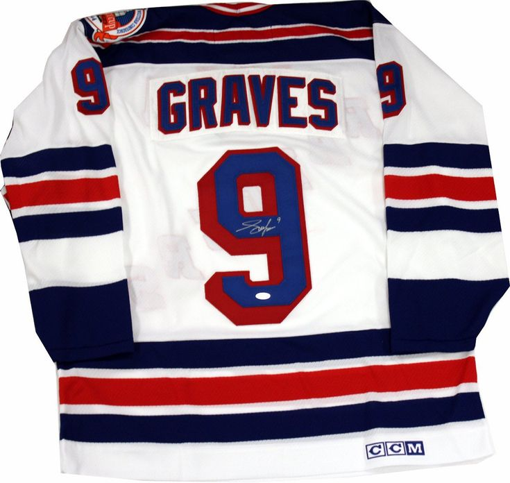 Ranger's Great Adam Graves has personally hand-signed this 1994 Replica White Jersey signed in the back-Adam Graves was one of the biggest heart and soul players on the 1994 New York Rangers Stanley Cup championship team. $649.99