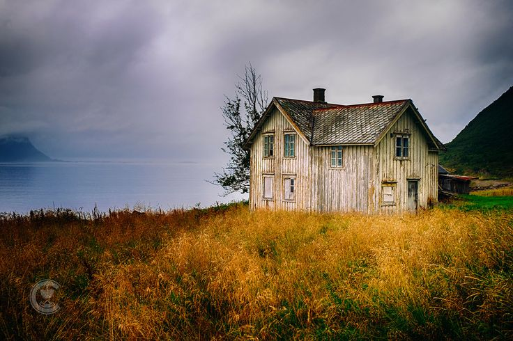 Abandoned house by the fjord in Norway. Love this image ...
