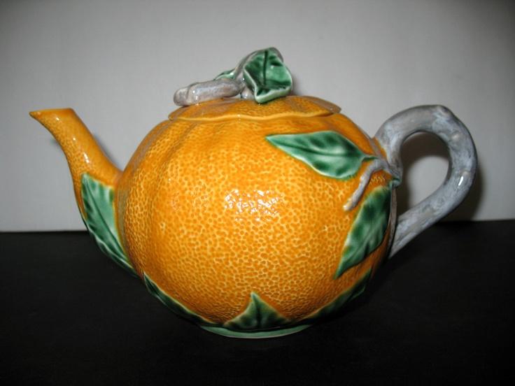Vintage Valencia Orange Teapot