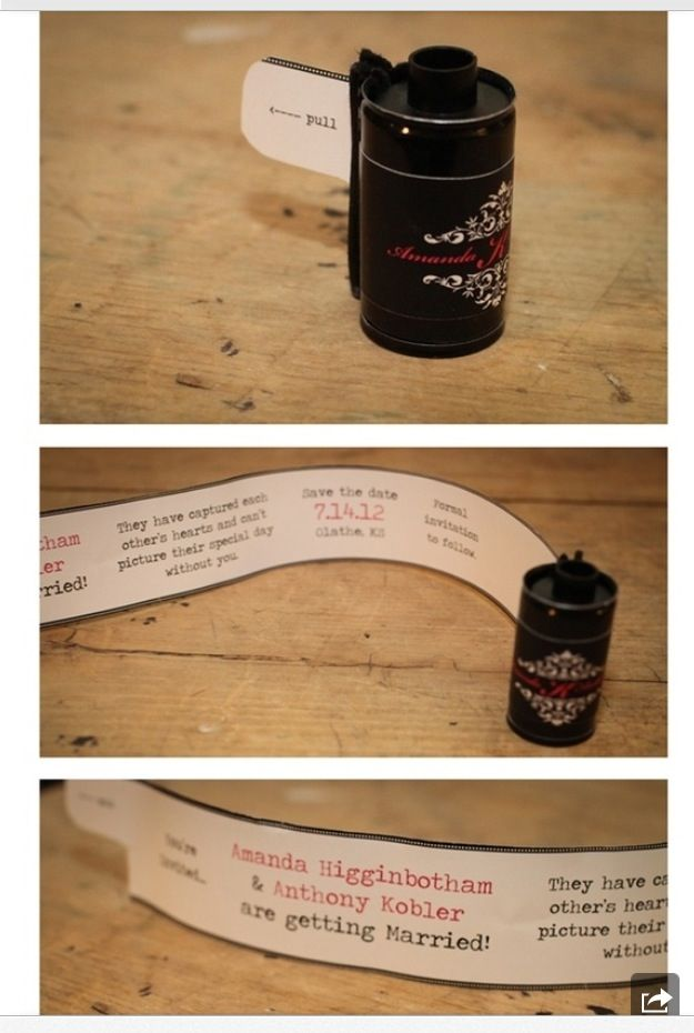 how to make film canister wedding invitations%0A make your own film canister save the date or party invite