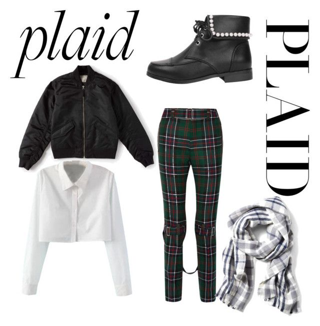 """""""Plaid"""" by maddy-s8674 on Polyvore featuring Gucci, WithChic and Everlane"""