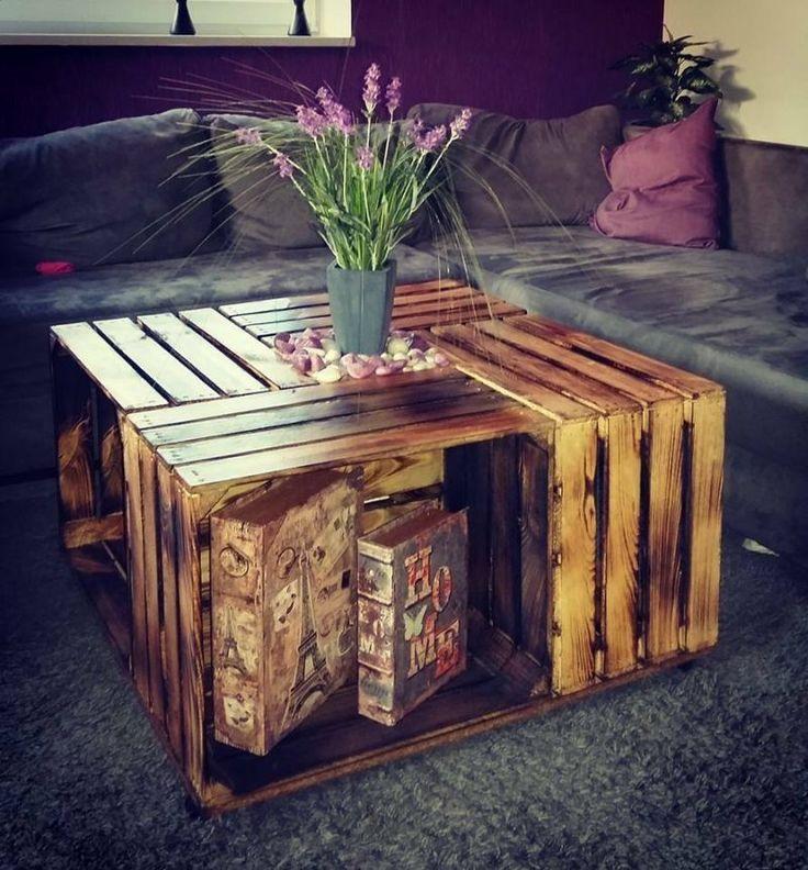 Weinkisten Tisch selber bauen – #bauen #selber #se…