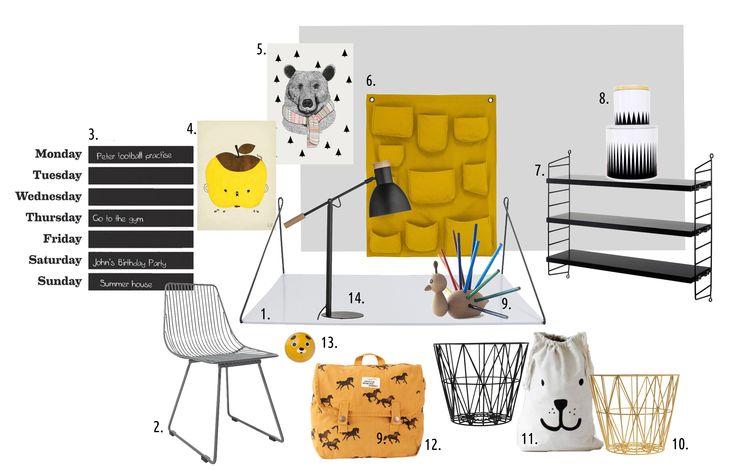 Design board by mukaki in black&yellow