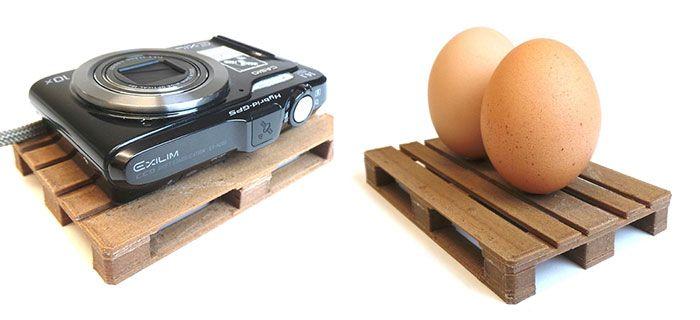 3D print your own mini pallet platforms. EUR pallet scale model.