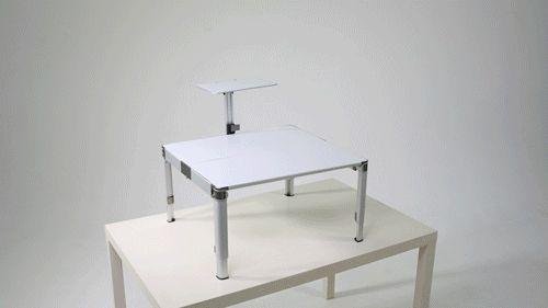 Portable standing desk adjustment