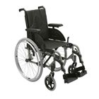 Basic Manual Wheelchairs – This is the type of wheelchair you would find in the hospital or grocery store.  They are typically made of steel and are designed for limited use. Not ideal for someone who will be spending many hours in the chair.