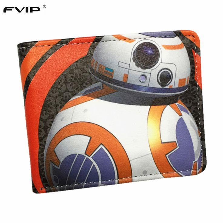 FVIP Star Wars Wallet BB-8 Darth Vader Mandalorian Storm Troops Bo Buffett  Short Wallets With Card Holder Men's Purse