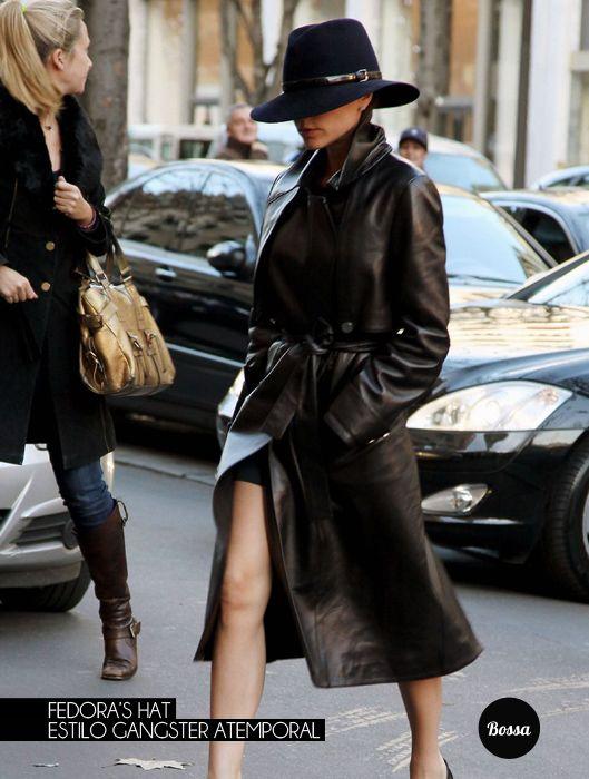 Fedora's hat, estilo gangster atemporal.
