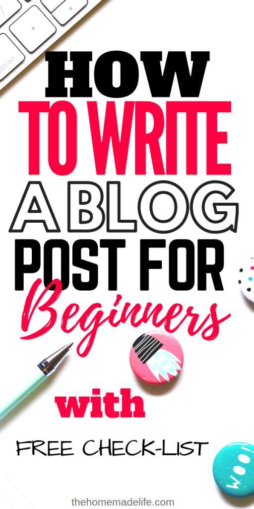 Wie schreibe ich einen Blog-Beitrag für Begginer