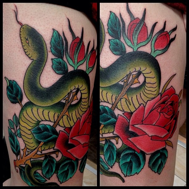 Colorful Snake Tattoos: 64 Best Images About Men's Snakes Ink On Pinterest
