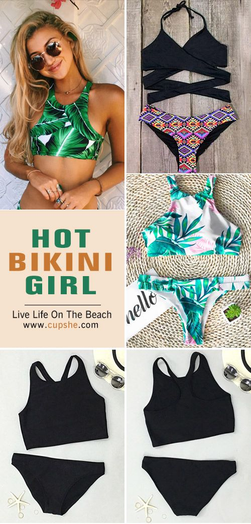 Hot bikini girl is you! Start a new beach trip now. Give you stylish look at Cupshe.com