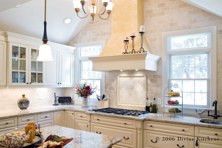 sienna bordeaux granite Kitchen Traditional with granite countertop built in sink