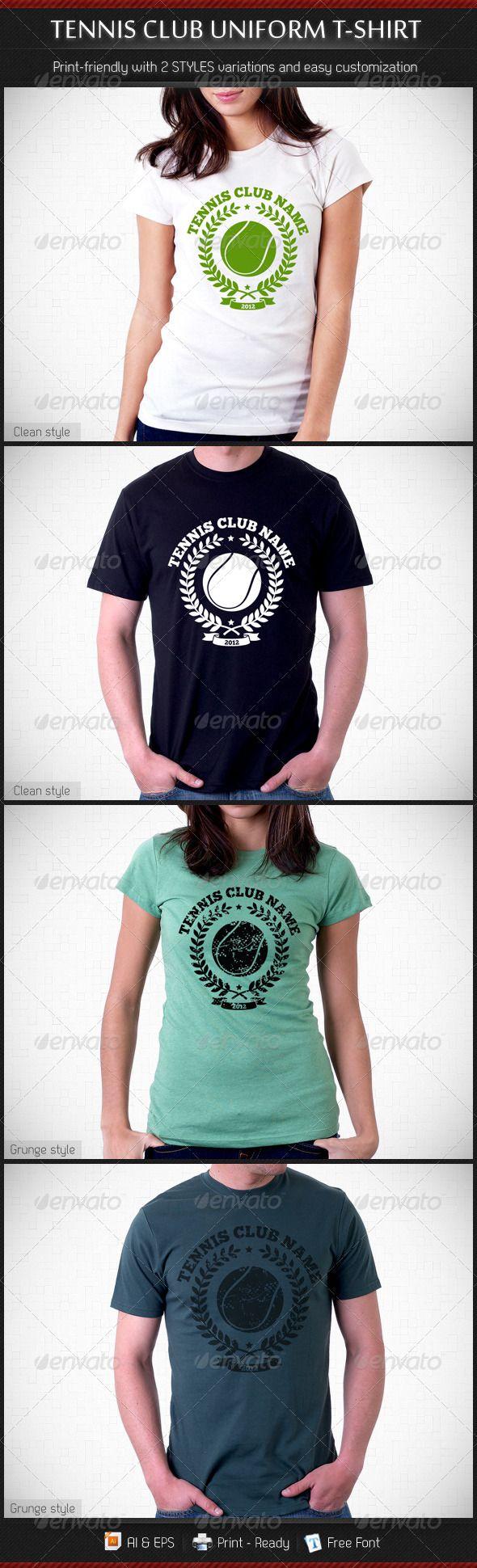 Shirt design now - Tennis Club Uniform T Shirt Template