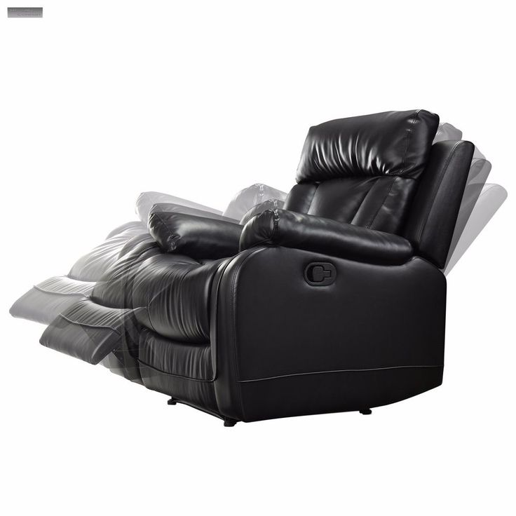 New Black Leather Recliner Lazy Boy Reclining Chair Furniture Living Room Seat  sc 1 st  Pinterest : new style super comfort recliner - islam-shia.org