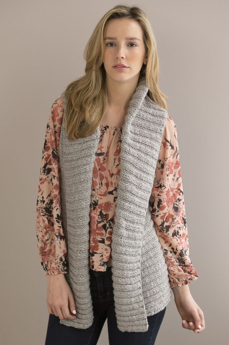Elegance Vest in TUCSON: This vest is versatile in its wearability; it can be worn as a double-breasted wrap vest, open in the front, or with a deep shawl collar and closed with a pin. Available in sizes Small (Medium, Large, XL, 2X, 3X)