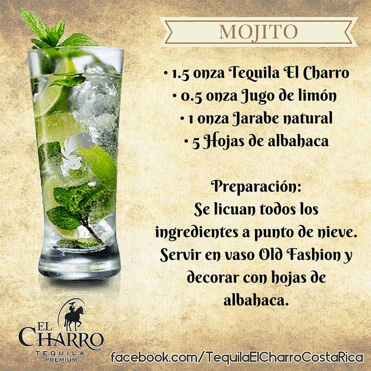 Mojito, con Tequila El Charro! #Tequila #TequilaElCharro #Coctel #Cocktail #Mojito