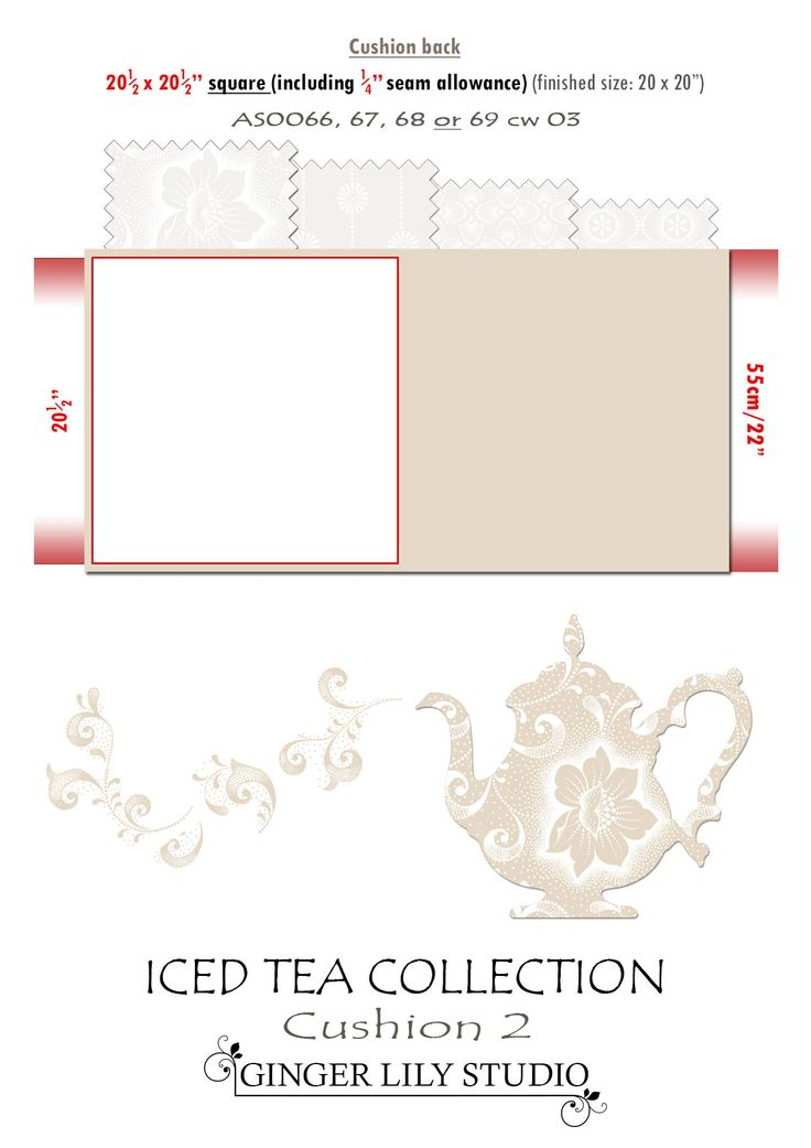 6b Iced Tea Collection Cushion cutting layout 2